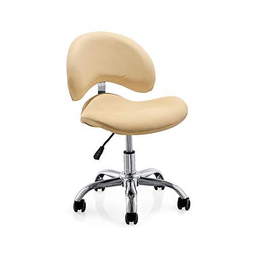 Beauty Kruk op wielen met rugleuning om te helpen verlichten pijn in de rug Professionele Zadel Kruk