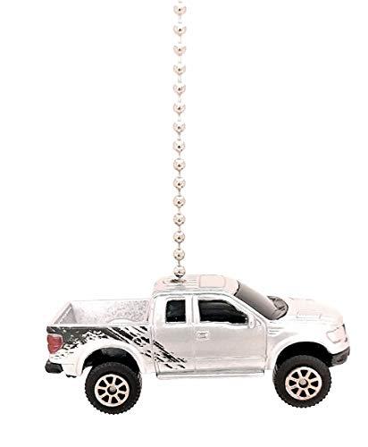 Maisto Ford Raptor Ceiling Fan Light Pulls 1/64 (2016 Ford F-150 SVT RAPTOR - Silver)