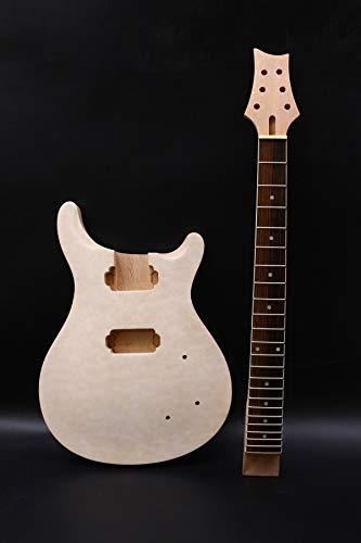 1 Unidades kit de guitarra cuello 22fret acolchado arce tapa guitarra cuerpo caoba arce guitarra diapasón DIY guitarra