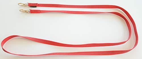 elropet Gummierte Zügel m. Zügelhaken Silber Gummizügel rot (2,20m Shetty)