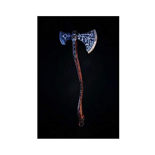 God of War Leviathan Axt Game 1 Leinwand-Poster, Wandkunst, Deko, Bild, Gemälde für Wohnzimmer, Schlafzimmer, Dekoration, 60 x 90 cm, ohne Rahmen