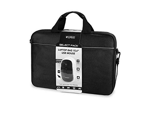 """SUBBLIM Select Pack Wired Mouse USB + Laptop Bag 15,6"""""""