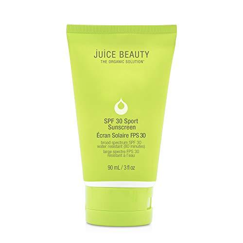 Juice Beauty SPF 30 Sport Sunscreen - Face Moisturizer with Zinc, Certified organic ingredient Plant derived, 3 Fl Oz