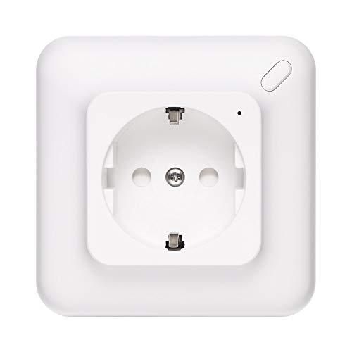 Topwor Wifi Smart Socket Integrado Wi-fi Enchufe Cronómetro Ajuste El Panel De Tomacorriente Trabaje Con Alexa Y Google Assistant, 1 Paquete (Necesita Una Línea Neutral)