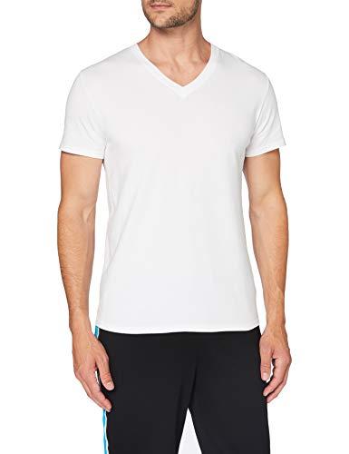 Eminence - Tee-Shirt col V Homme Fait en France - Taille : 6 - Couleur : Blanc