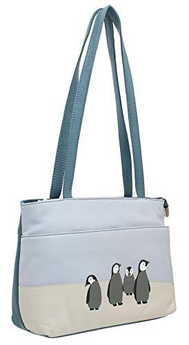 Mala Leather Ollie Collection Leather Shoulder Bag 7172_3 Blue