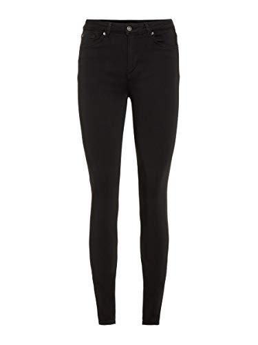 VERO MODA Damen Slim Fit Jeans VMLUX Normal Waist M32Black