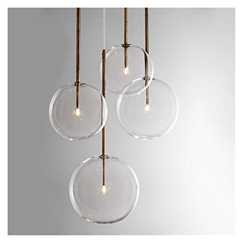 junfeng Lámpara Colgante Clear Simple Creative Glass Lights Bar Cafetería Simple Hierro Drop Light Experimental Botella LAMPR Vidrio Helado
