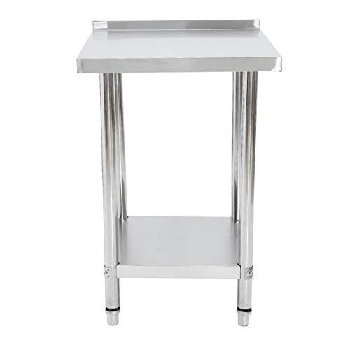 Detectoy - Mesa de cocina de 2 capas con protector contra salpicaduras,...