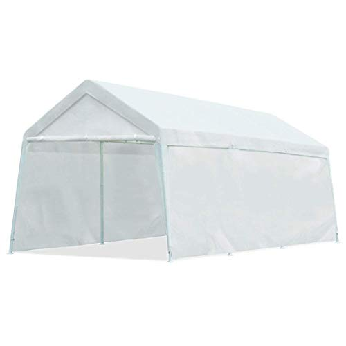 Quictent 10'x20' Carport Heavy Duty Car Canopy Garage Gazebo Car Shelter White