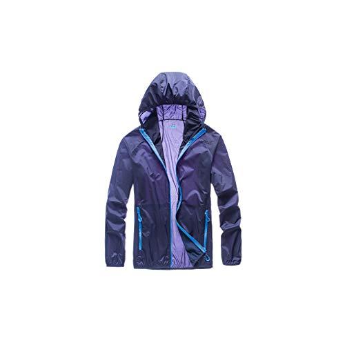 GCX - Protector solar transpirable para hombre, ropa de verano, ropa de piel transpirable para hombre de seda helada, chaqueta protectora solar, para pesca al aire libre, ropa elástica, color Azul 3, tamaño Medium