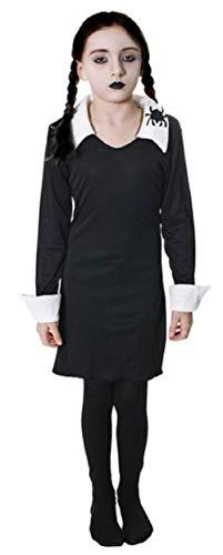 Fancy Me Mädchen Wednesday Addams Family Halloween Buch Woche Kostüm Kleid Outfit 4-12 Jahre - Schwarz, 12-14 Years