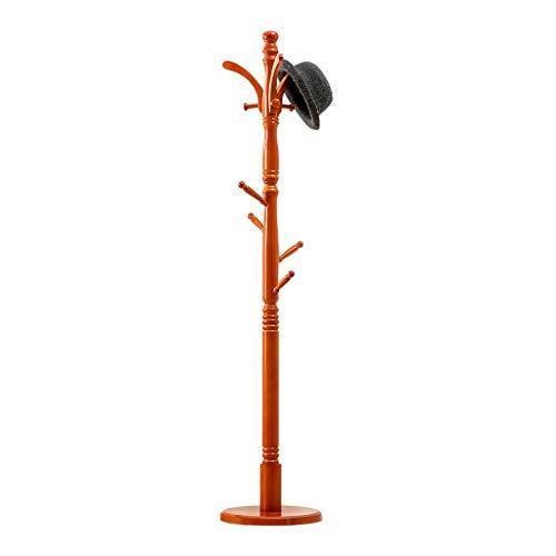 Perchero para Abrigos Alto grado de soporte del árbol Escudo Rack, Escudo de madera con el árbol del sombrero 8 Ganchos y Base redonda, Pasillo Puerta de entrada suspensión de capa soporte de gancho f
