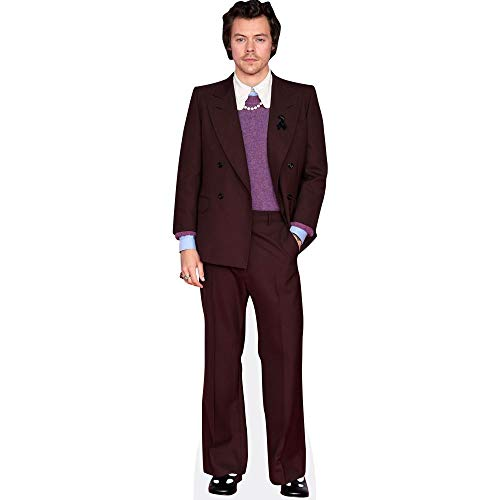 Harry Styles (Burgundy Suit) Pappaufsteller lebensgross