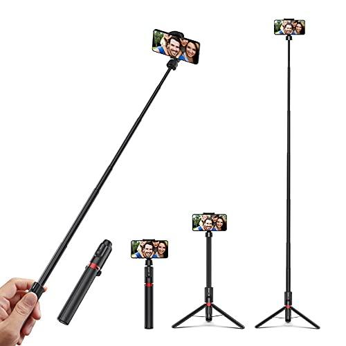 Palo De Selfie Portátil Extensible Multifuncional 1300mm Selfie Stick Triop con Pinza De Teléfono De 360 ??° Y Control Remoto Retráctil para Fotografía con Smartphone