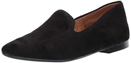 Naturalizer Women's Lorna Loafer, Black Suede, 8.5 Wide