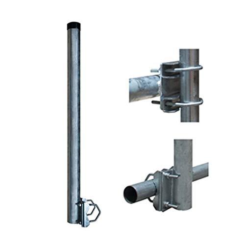 PremiumX Balkon-Halter 100cm Ø 48mm Stahl Mast 1m Geländer-Halterung für Satelliten-Schüssel SAT-Antenne Satelliten-Anlage Sat-Spiegel Ausleger - auch nutzbar als Mastaufsatz Mast-Verlängerung