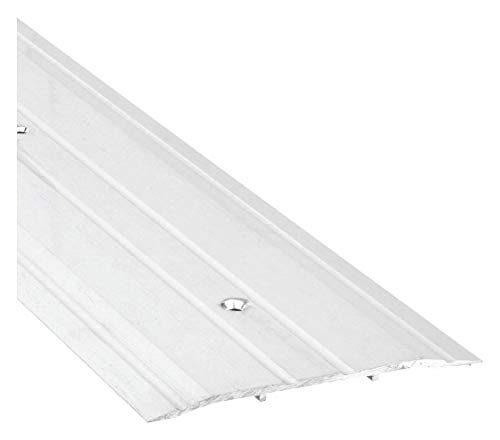 """National Guard 613-72"""" NGP Fluted Commercial Saddle Threshold, Mill Finish, 72"""" L x 6"""" W x 1/4"""" H"""