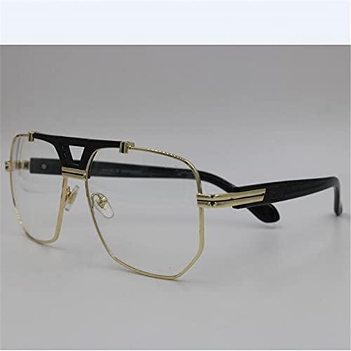 N/A Gafas de Sol para Hombre Gafas de Sol para Mujer Gafas de Sol Gafas de Sol cuadradas Nuevas de Brand Woman Contiene Cajas de Cuero Negro Gafas de Sol
