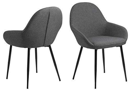 AC Design Furniture Julie Dining Chaise Longue en Polyester Gris 57,5 x 60 x 84 cm