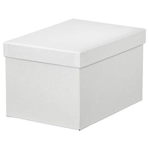 IKEA.. 103.954.21 Tjena - Caja de almacenaje con Tapa, Color Blanco