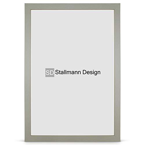 Stallmann Design Bilderrahmen New Modern 50x70 Puzzleformat cm grau Rahmen Fuer Dina 4 und 60 andere Formate Fotorahmen Wechselrahmen aus Holz MDF mehrere Farben wählbar Frame für Foto oder Bilder