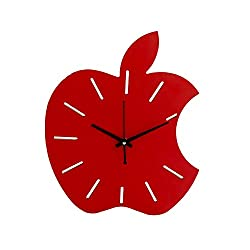 Unique Wooden Home Decor Apple Wall Clock for Home and Office-Unique Wooden Gift -1591