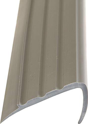 Treppenkantenprofil dunkelgrau Kunststoff PVC 1m kürzbar Treppenwinkel (3)