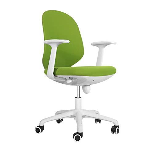 JIEER-C ergonomische stoel ergonomische bureaustoel in hoogte verstelbare vrijetijdsdraaistoelen nylon voeten bureaustoel voor thuis vaste armleuning - groen