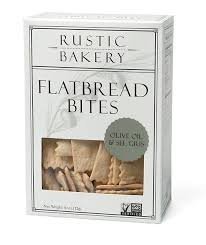 Rustic Bakery, Flatbread Bites Olive Oil Sel Gris, 4 Ounce
