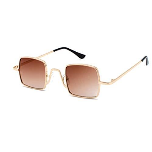 IOSHAPO Mode Zonnebril Retro Metalen Frame vierkante Piloot Grote doos Glazen Schaduw Zonnebril