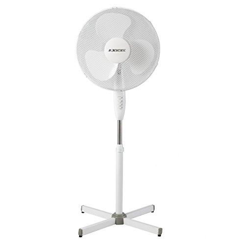 Jocel JVP030610 Ventilador de Pie, 45 W, Plástico, 3 Velocidades, Blanco