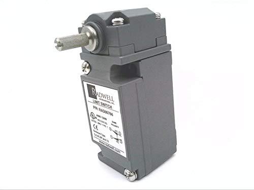 RADWELL RAD00766 Limit Switch - Heavy Duty, Rotary Head, Standard Travel, 1/2NPT, SPDT, Standard Body