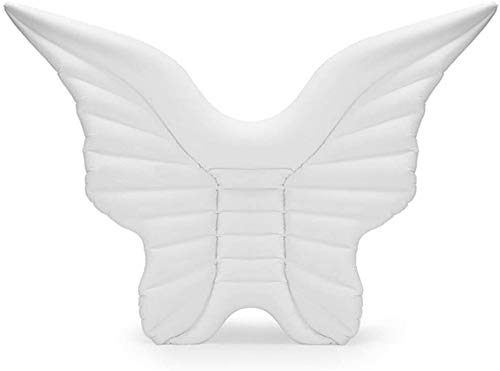 Feceyq Inflatable Swimming seat Pool Inflatable PVC Angel Wings Floating Row Gold White Lie Inflatable Water Mattress Swimming Floating Bed Adult Child to Your Water Travel Best Gift ( Color : B )