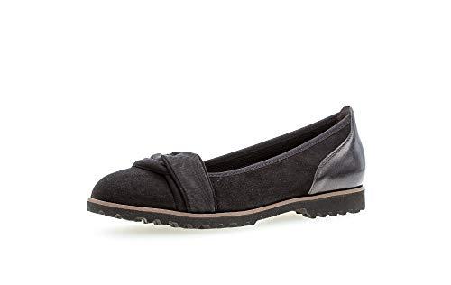 Gabor Damen Ballerinas, Frauen Klassische Ballerinas, Slip-ons Ballerina-Schuhe Ballett-Schuhe Ballet-Flats Ausgehschuhe,schwarz (Uni),38 EU / 5 UK