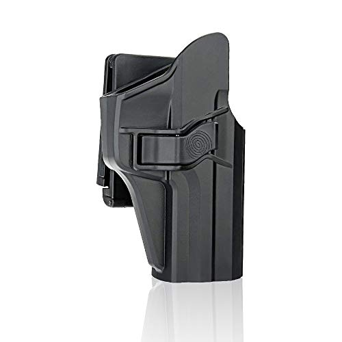 efluky Holster Pistola Molle Pistolera Airsoft Gun Holster para HK USP 9mm/.40 Full Size, Belt Clip 60° Adjustable