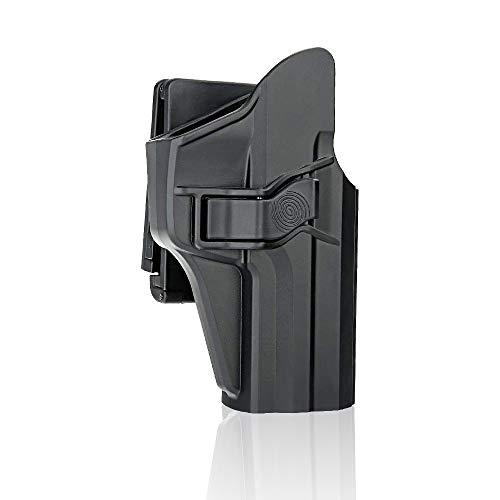 efluky HK Gürtelholster Holster Pistole HK USP Holster Fit H&K USP 9mm/.40 Full Size, Belt Clip 60° Einstellbar