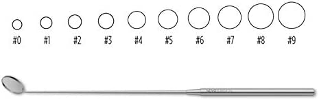 E8459-37 Laryngeal Mirror Octagon Handle 8