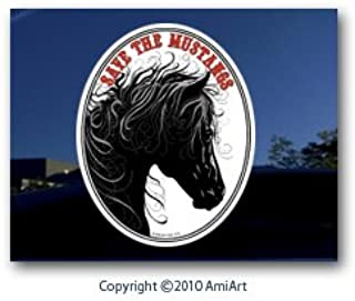 Horse Decal Mustang Horse America's Wild Horses Vinyl Car Window Sticker Decal-Each Sticker Helps The Wild Mustangs!