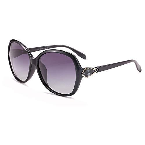 BANLV Gafas de Sol polarizadas Mujer Retro Big Frame Gafas de Sol polarizadas Mujer