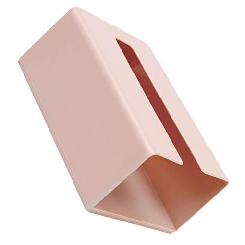 Cabilock Caja Dispensadora de Pañuelos Faciales Rosa Soporte de La Cubierta de La Servilleta Montado en La Pared Contenedor Organizador para Baño Cocina Y Sala de Oficina