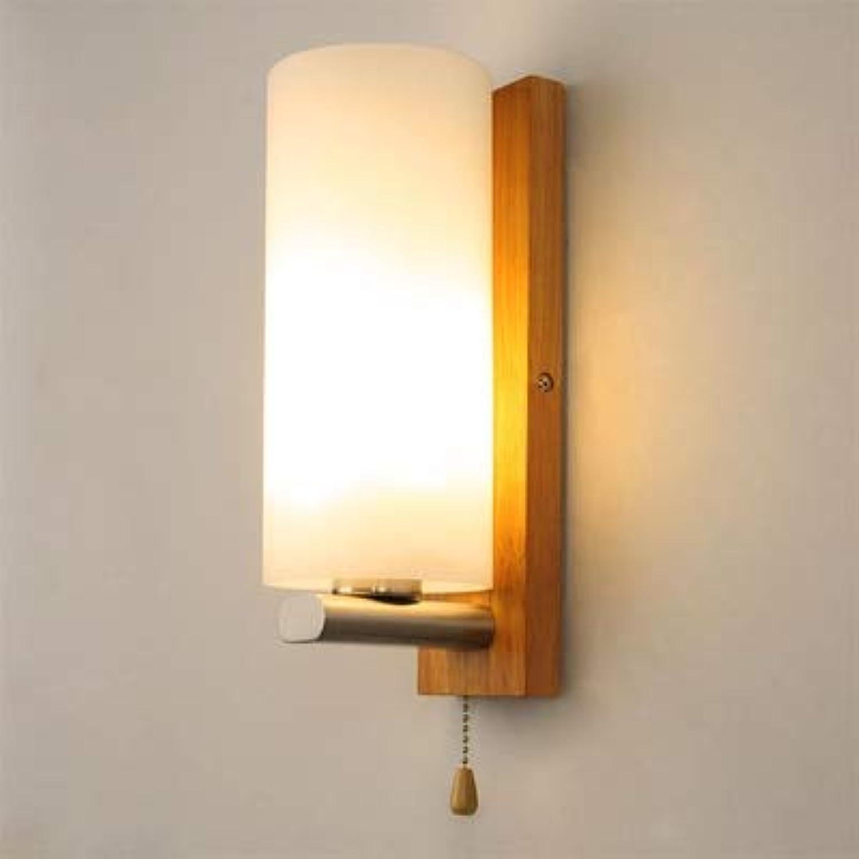LED-Wandleuchte aus Echtholz, nordisches Design, für Schlafzimmer und Wohnzimmer