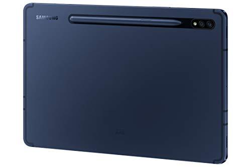 Samsung Galaxy Tab S7, Android Tablet mit Stift, WiFi, 3 Kameras, großer 8.000 mAh Akku, 11,0 Zoll LTPS Display, 128 GB/6 GB RAM, Tablet in blau