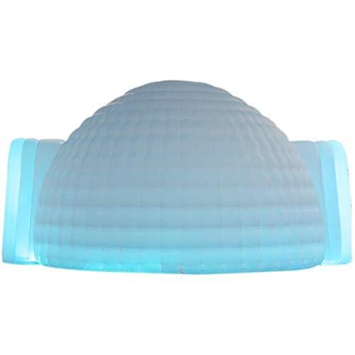 SAYOK 5 m aufblasbares Iglu-Zelt, Kuppelzelt mit Luftgebläse (weiß, zwei Türen), aufblasbare Zeltstruktur für Veranstaltungen, Partys, Hochzeiten, Ausstellungen, Kongress