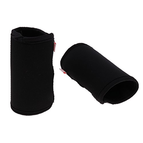 perfk 2 Stück Hunde Gelenkschutz Bandage Ellenbogenschutz Hinterbein Sprunggelenk Bandage - Schwarz M