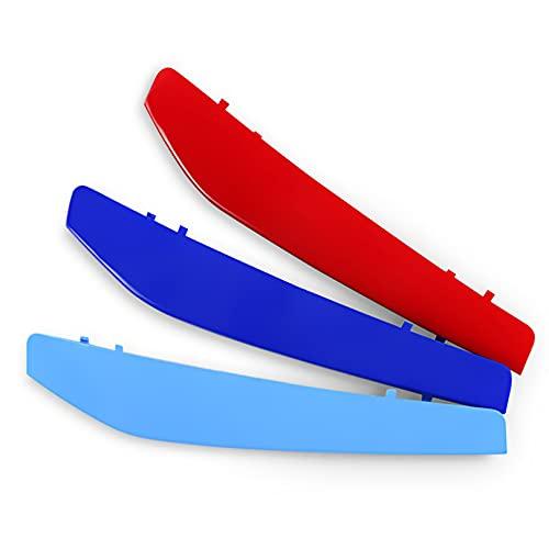 Yinghesheng Für BMW m Sport Zubehör 4er (9 Kühlergrill) Kühlergrill Aufkleber Streifen für BMW Aufkleber Schlüsselanhänger Niere