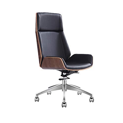 Silla giratoria ajustable Silla de ruedas ejecutiva con respaldo alto con ruedas, silla de escritori