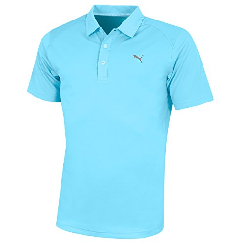 Puma Golf Herren Pounce Poloshirt Männer Polo Trainingsshirt hellblau Größe L