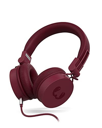 Fresh 'n Rebel On Ear Kopfhörer mit Kabel, 3,5-mm-Audiokabel mit Mikrofon & Fernbedienung, Leicht, Faltbar und Komfortabel - Caps 2 Ruby Red