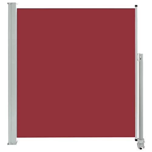 Festnight Ausziehbare Seitenmarkise Markise Seitenwandmarkise Sonnenschutz Sichtschutz Ausziehbar Seitenwandmarkise 140 x 300 cm / 160x300 cm Rot